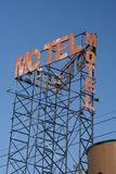 motel rusted sign Stock Photography