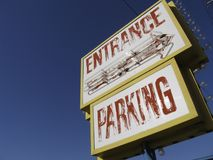 Motel sign Stock Images