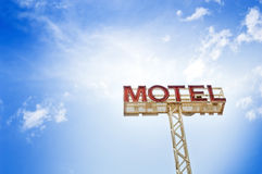 Motel Sign Stock Photography