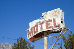Motel sign. Old motel sign by olancha california.usa Stock Image
