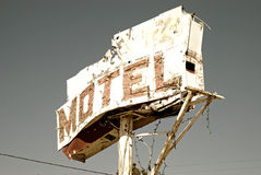 Motel sign Stock Photo