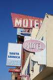 Motel signs in Santa Monica Royalty Free Stock Images