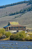 Motel on stilts in the air Stock Images