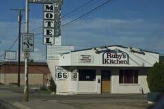 Motel su Route 66 storico immagine stock libera da diritti