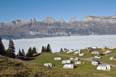 Motel in swiss alps Stock Images