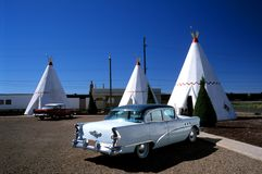 Motel with traditional tipis Royalty Free Stock Image