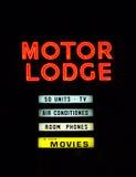 motel znak Zdjęcia Stock
