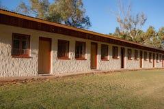 Moteleenheden in Glen Helen Homestead stock foto's