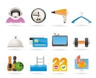 motell för facilitethotellsymboler Arkivfoton