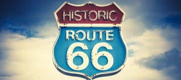 Motellande i historisk väg 66 Fotografering för Bildbyråer