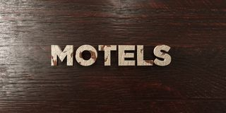 Motels - grungy wooden headline on Maple  - 3D rendered royalty free stock image Stock Photography