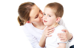 Moter beija seu filho Fotografia de Stock Royalty Free
