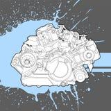 Moteur à combustion interne de la machine Photo stock