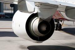 Moteur à réaction d'avion Photographie stock