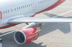 Moteur à réaction d'un avion d'Air Berlin Photos stock