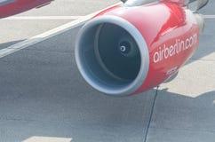 Moteur à réaction d'un avion d'Air Berlin Photo stock