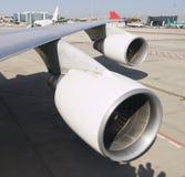 Moteur à réaction de deux aéronefs Images stock