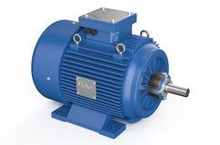 Moteur électrique industriel bleu Image libre de droits