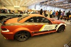 Moteur accordant Mercedes montré à la 3ème édition de l'EXPOSITION de MOTO à Cracovie Image libre de droits