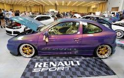 Moteur accordant Renault montré à la 3ème édition de l'EXPOSITION de MOTO à Cracovie Images stock