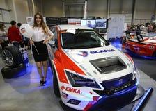 Moteur accordant Seat montré à la 3ème édition de l'EXPOSITION de MOTO à Cracovie Images stock