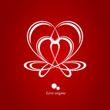 Moteur d'amour Image libre de droits