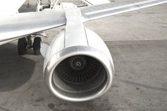 Moteur d'avion images libres de droits