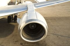 Moteur d'avion images stock
