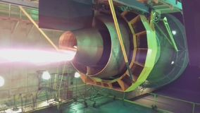 moteur d'avions Grande turbine de moteur banque de vidéos