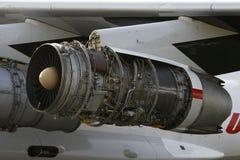Moteur d'avions ouvert images libres de droits