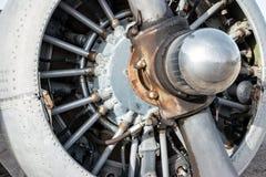 Moteur d'avions radial Image libre de droits