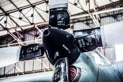 Moteur d'hélice du jumeau C130 Photographie stock