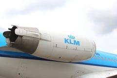 Moteur d'un Cityhopper de KLM, aéroport de Schiphol Images stock
