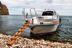 moteur de bateau Images libres de droits