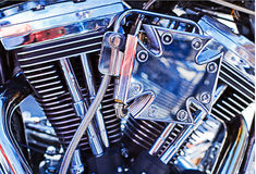 Moteur de motocyclette Photo stock