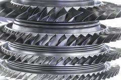 Moteur de turbine Technologies d'aviation Détail de moteur à réaction d'avions dans l'exposition Bleu modifié la tonalité Photos stock