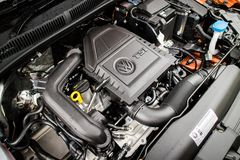 Moteur 2018 de Volkswagen Polo photo libre de droits