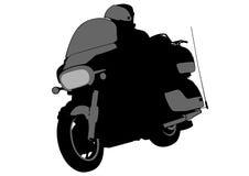 Moteur deux de petit morceau de cycliste Image libre de droits