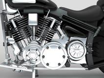 Moteur fait sur commande de plan rapproché de moto Photographie stock libre de droits