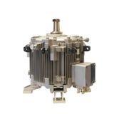 Moteur-générateur électrique vertical industriel d'isolement sur le fond blanc Photo libre de droits