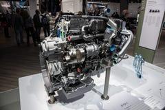 Moteur M 936 G de gaz naturel de Mercedes Benz Image libre de droits