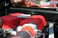 Moteur moderne de Ferrari Photographie stock libre de droits