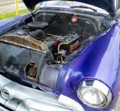 Moteur original d'une voiture de vintage Images libres de droits