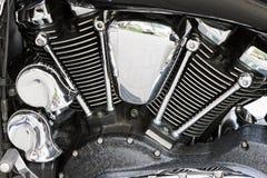 Moteur puissant passé au bichromate de potasse de moto de moteur image stock