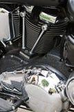 Moteur puissant passé au bichromate de potasse de moto de moteur photo stock