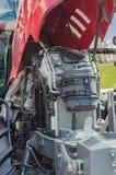 Moteur tracteur de pointe puissant dans la conception moderne images libres de droits