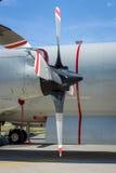 Moteurs Allison T56-A-14 des avions anti-sous-marins et maritimes Lockheed P-3C Orion de turbopropulseur de surveillance Image libre de droits