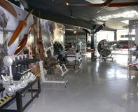 Moteurs d'avions au musée de l'aéronavale Images libres de droits
