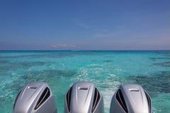 Moteurs de bateau de vitesse Image libre de droits