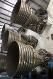 Moteurs F-1 sous la lune Rocket de Saturn V Photos libres de droits